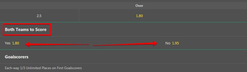 Btts example